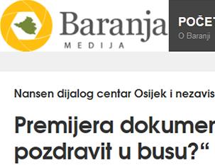 """Premijera dokumentarnog filma: """"Oš me pozdravit u busu?"""" Beli Manastir"""
