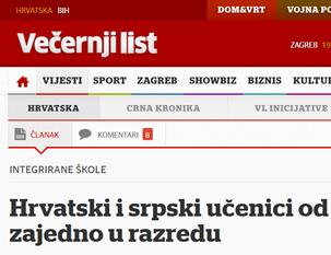Hrvatski i srpski učenici od 2015. zajedno u razredu